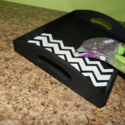 DIY Chevron Tray