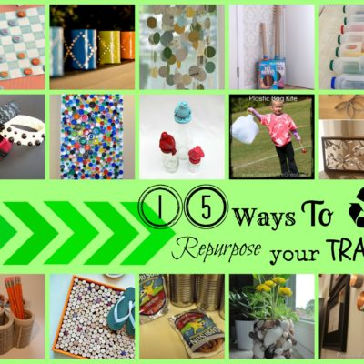 20 Ways to Repurpose your Trash