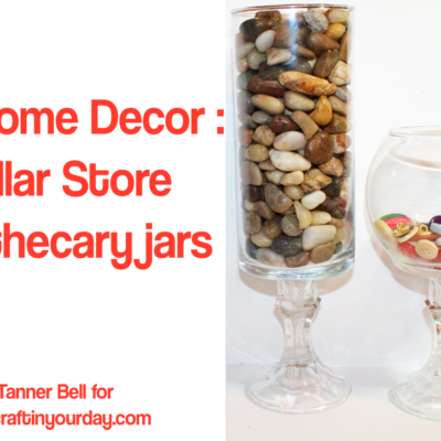DIY Home Decor : Dollar Store Apothecary Jars