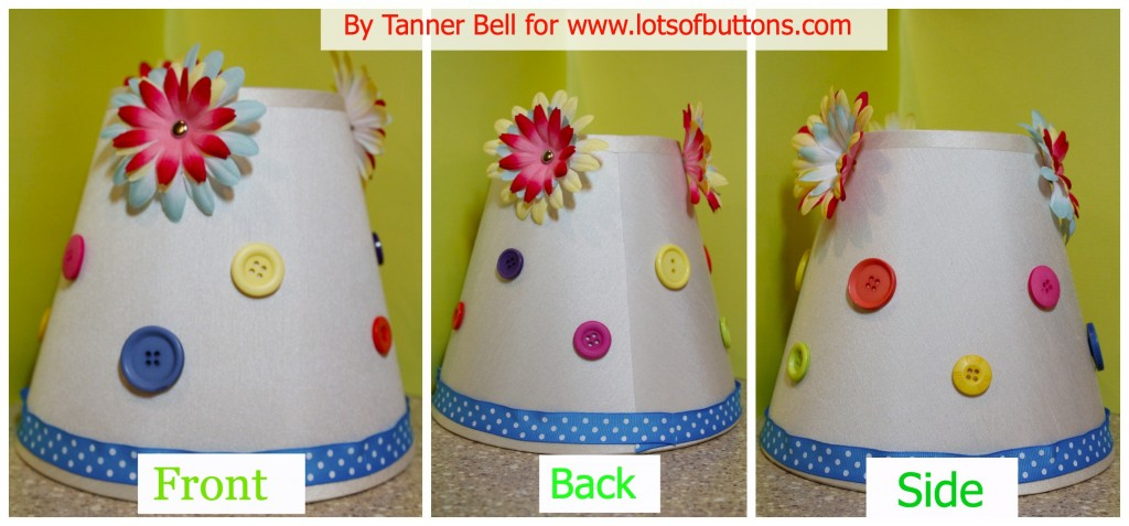 button lamp shade