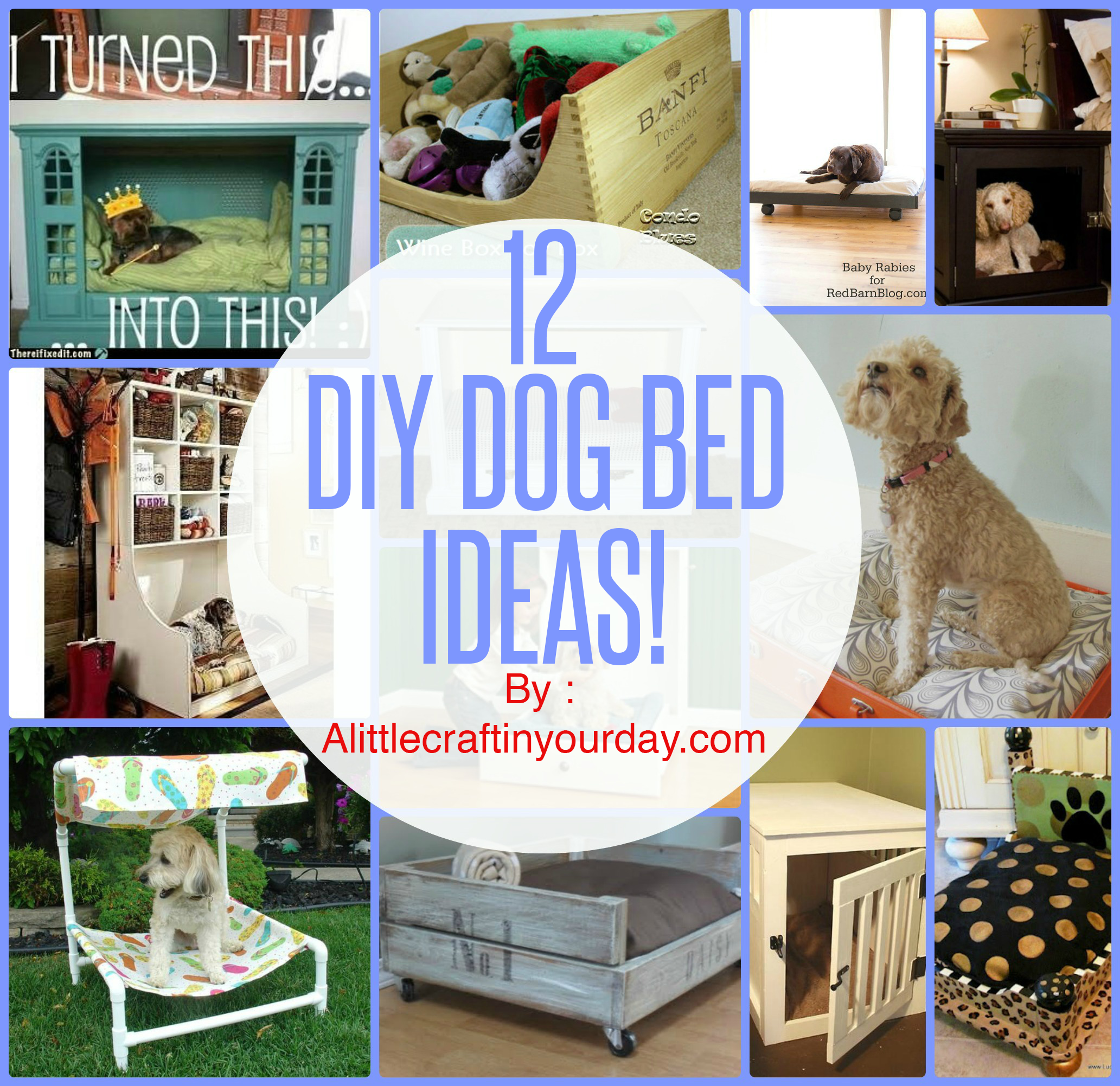 12 Diy Dog Beds A Little Craft In Your Day