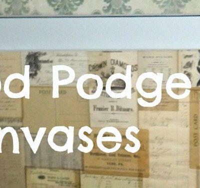 Mod Podge Canvas