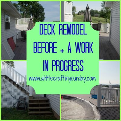 Deck Remodel ideas | Before and Progress
