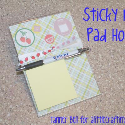 Sticky Note Pad Holder | DIY
