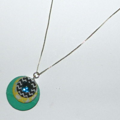 Washer Necklace with Washi Tape