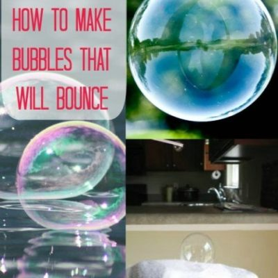 How to make Bubbles that bounce