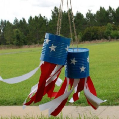 Patriotic Tin Can Windsocks