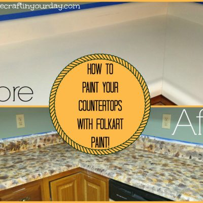 How to paint your countertops with Folkart Paint!