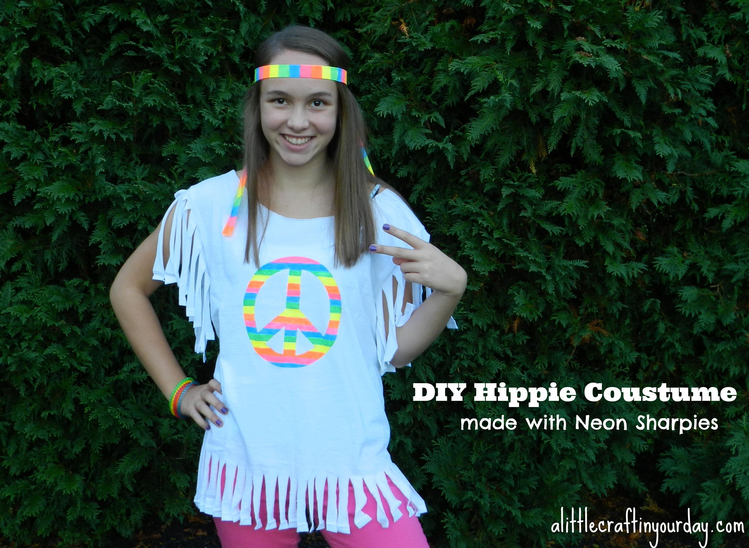 Hippie Halloween Costume Diy.Hippie Halloween Costume A Little Craft In Your Day