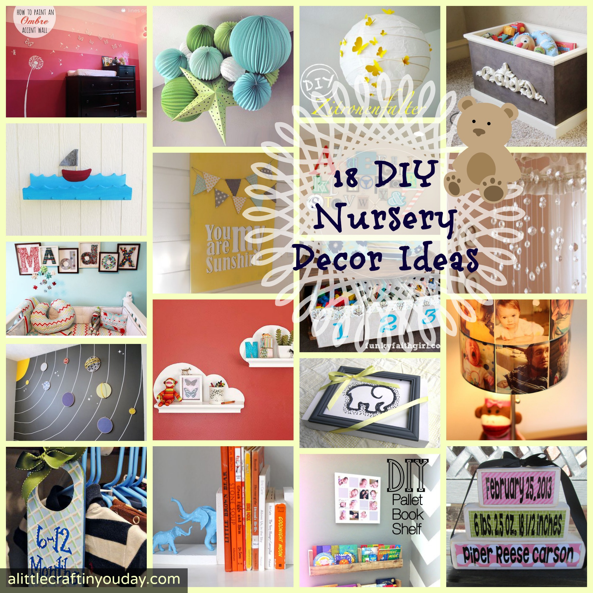 18 Diy Nursery Decor Ideas A Little Craft In Your Day