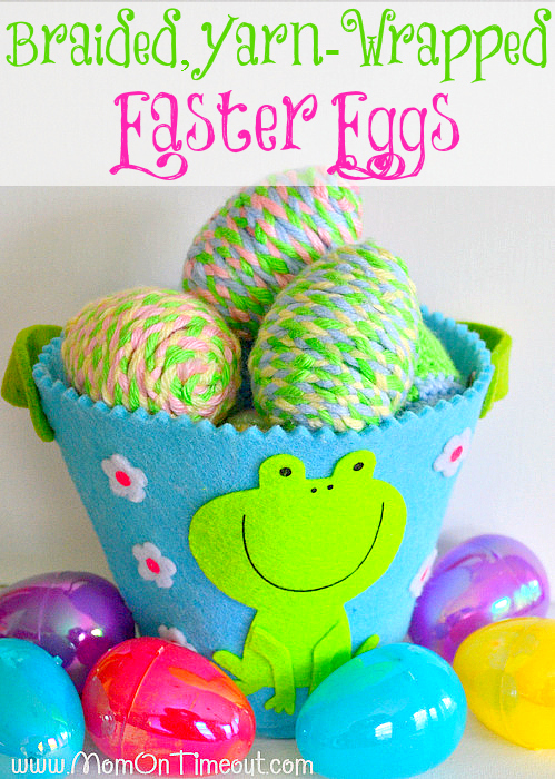 Braided-Yarn-Wrapped-Plastic-Easter-Eggs-Craft