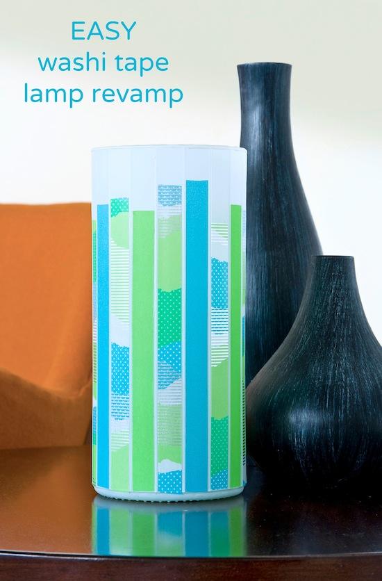 Easy-washi-tape-lamp-revamp