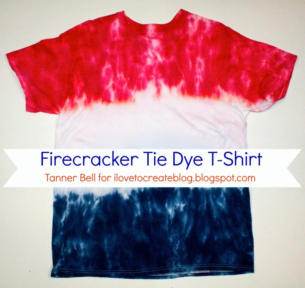 Firecracker tie dye shirt perfect to make during camping