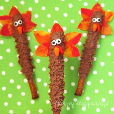 Chocolate Turkey Pretzel Pops thumbnail