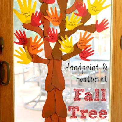 Family Handprint and Footprint Fall Tree thumbnail