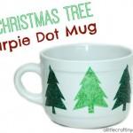 Christmas tree sharpie dot mug