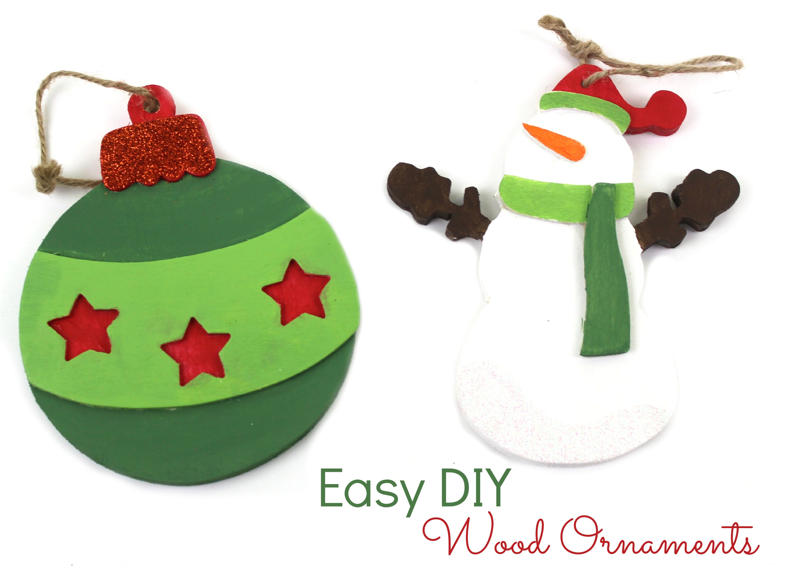 Easy Diy Wood Ornaments A Little Craft In Your Day