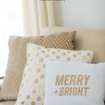 no sew holiday pillows