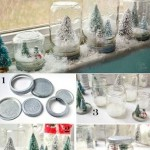 snow globes made from jars