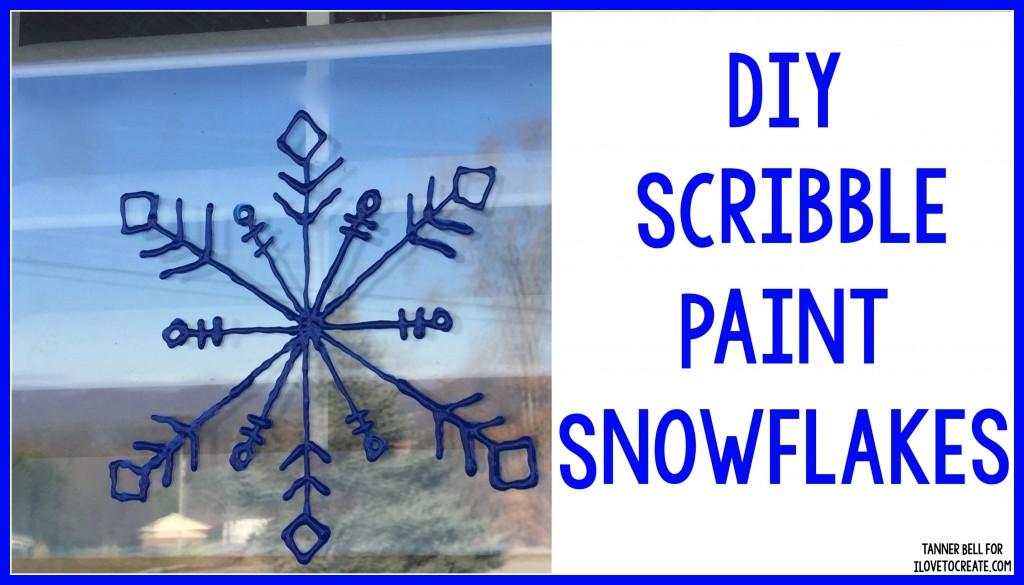 DIY Scribble Paint Snowflakes