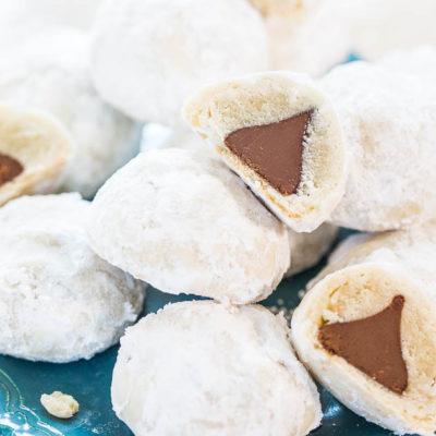 Chocolate Kiss Powder Puff Cookies thumbnail