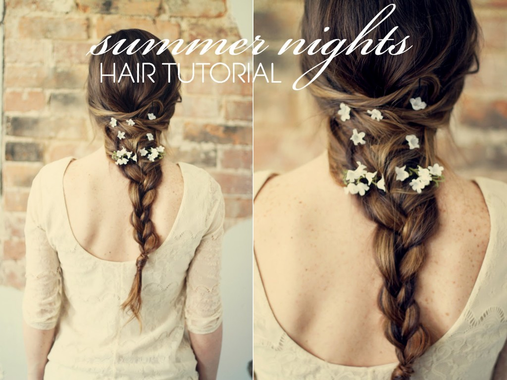 floral hair tutorial 1