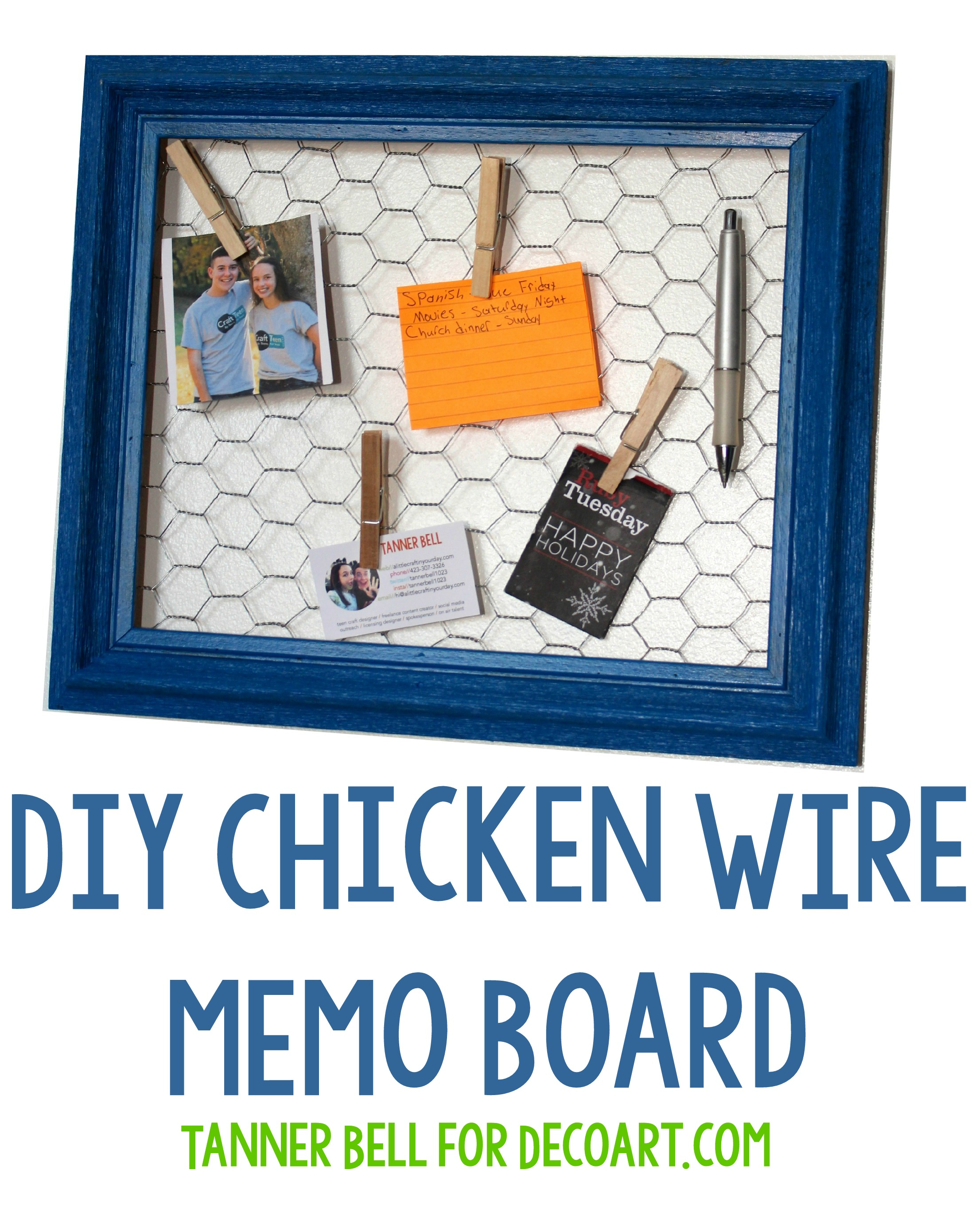 Diy Chicken Wire Memo Board A Little Craft In Your Day