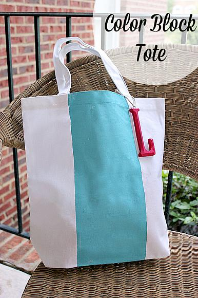 color block tote beauty shot