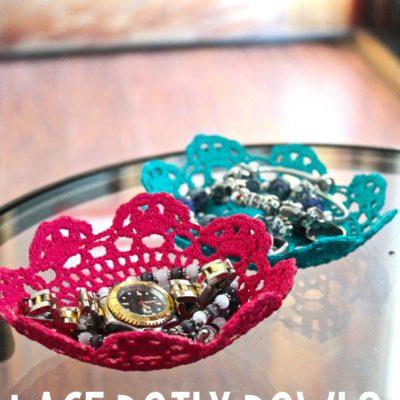 DIY Lace Doily Bowl thumbnail