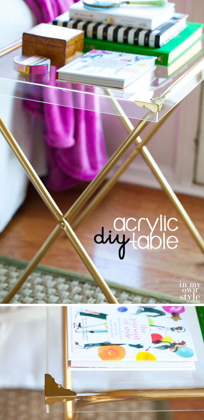 Make-this-chic-table-by-repurposing-a-box-frame-and-a-TV-tray-stand