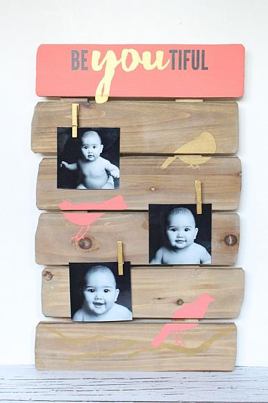 Rustic Photo Display 1