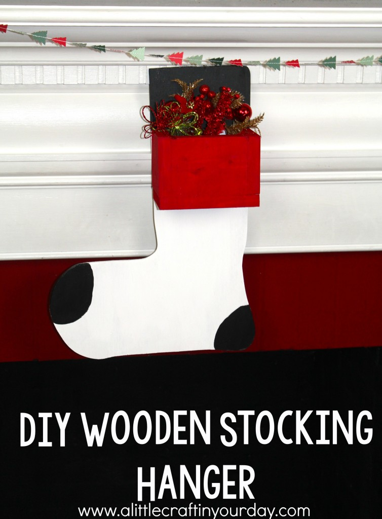 Wooden Stocking Hanger