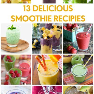 13 Delicious Smoothie Recipes thumbnail
