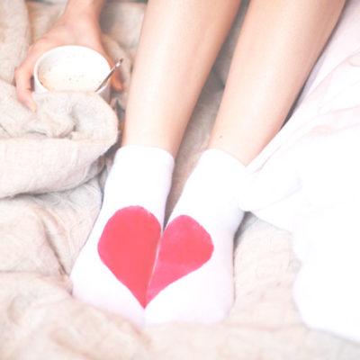 DIY Heart Printed Socks thumbnail