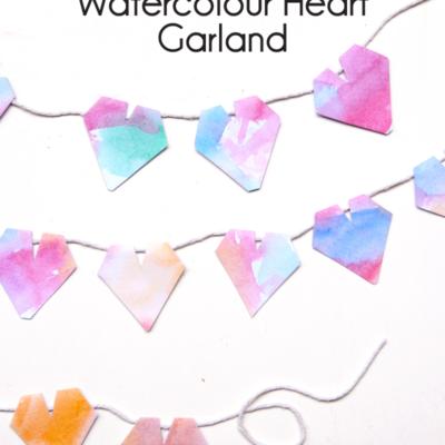 DIY Watercolor Heart Garland thumbnail