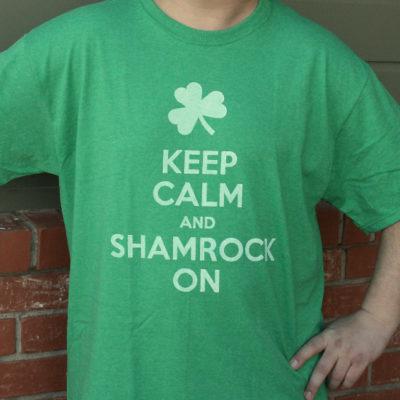 """DIY """"Keep Calm and Shamrock On"""" Shirt thumbnail"""