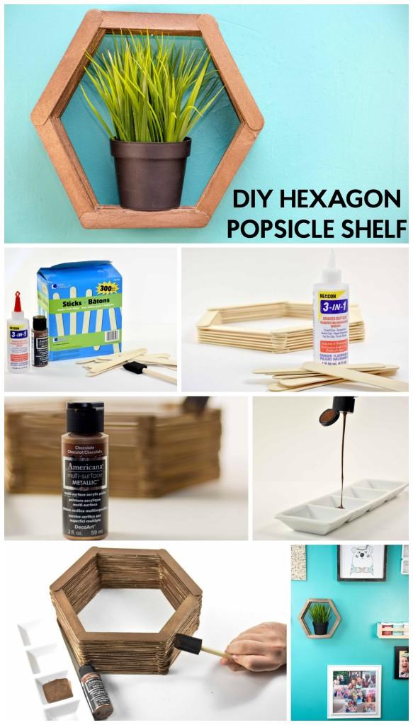 DIY HEXAGON POPSICLE SHELF-GRAPHIC