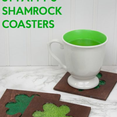 DIY St Patrick's Day Shamrock Coasters thumbnail