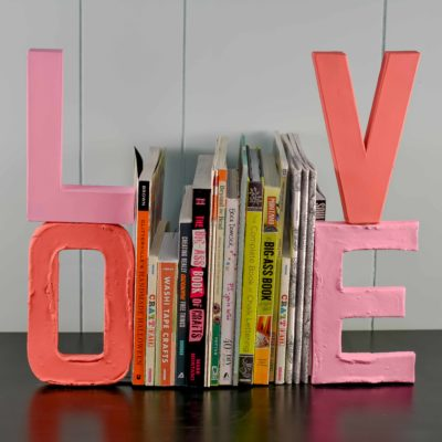 LOVE DIY Bookends for Mom thumbnail