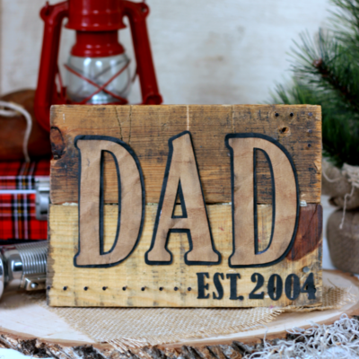 DIY Pallet Sign for Dad thumbnail