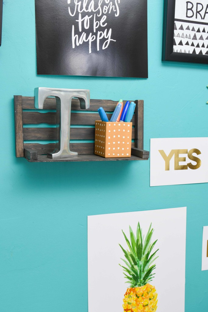 Diy Paint Stir Stick Shelf A Little Craft In Your Day