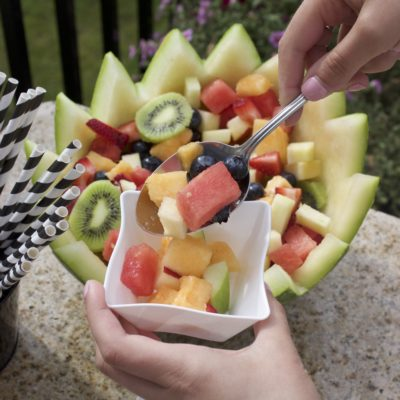 DIY Watermelon Bowl Fruit Salad thumbnail