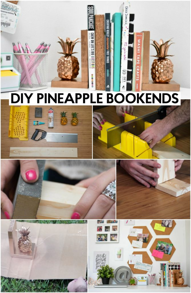 pineapple-diy-bookends