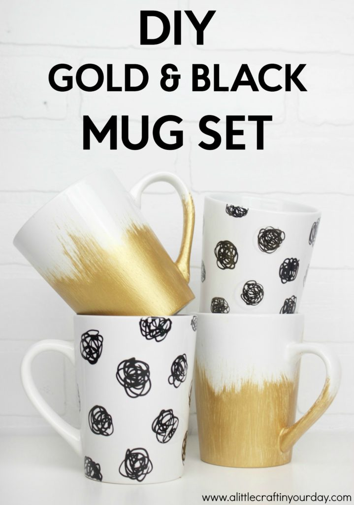 DIY_Black_&_Gold_Mug_Set