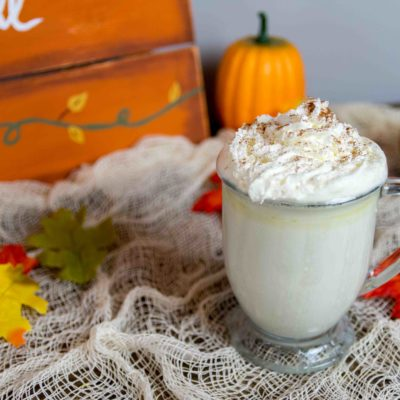 2 Step Slow Cooker Pumpkin Spice White Hot Chocolate thumbnail