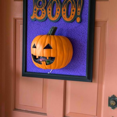 Functional DIY Halloween Door Decor thumbnail