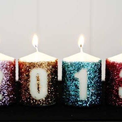 DIY Glitter New Years Candles thumbnail