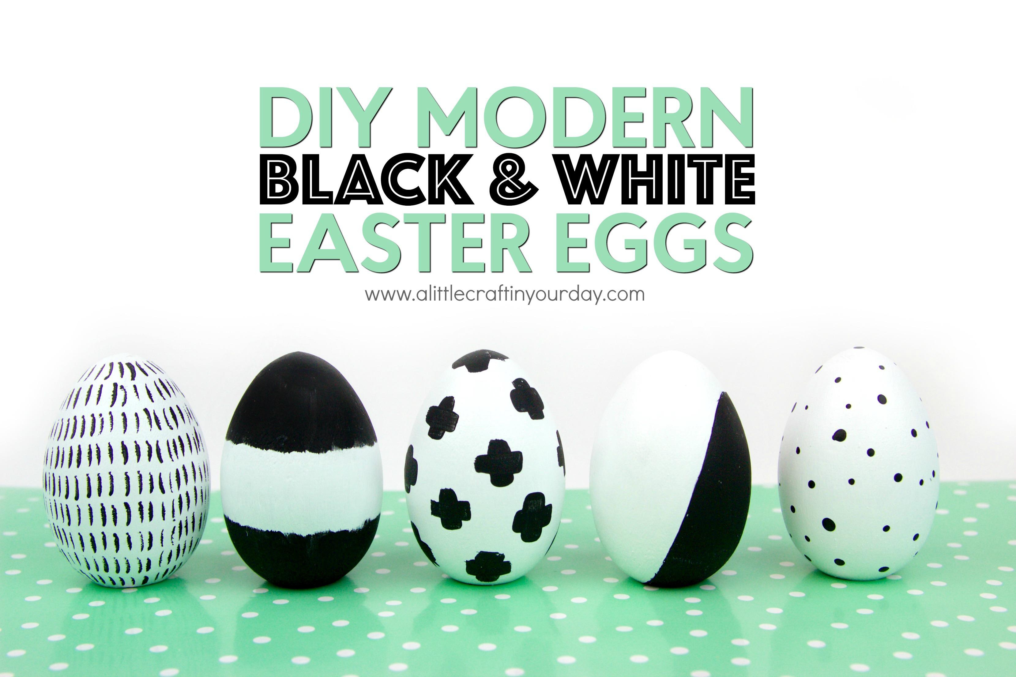 DIY_Modern_Black_and_white_easter_eggs