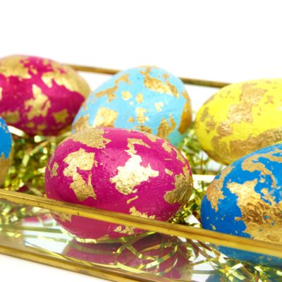 DIY Gold Leaf Easter Eggs thumbnail