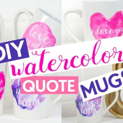 DIY Watercolor Quote Mugs thumbnail